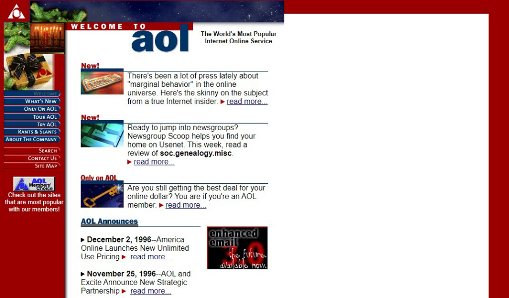 AOL Website 1996