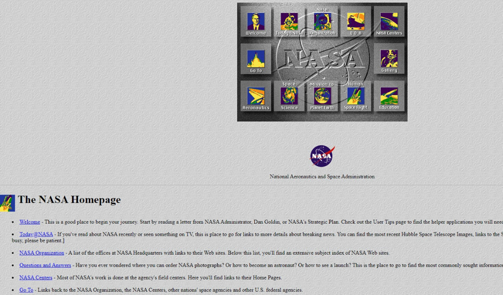 Nasa Website 1996