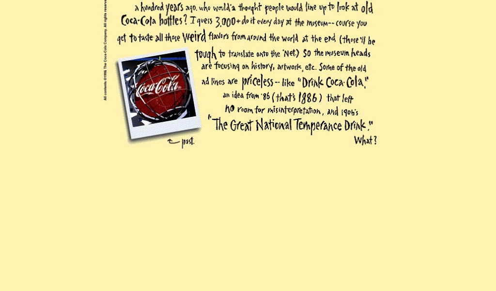 Coca Cola Website 1996