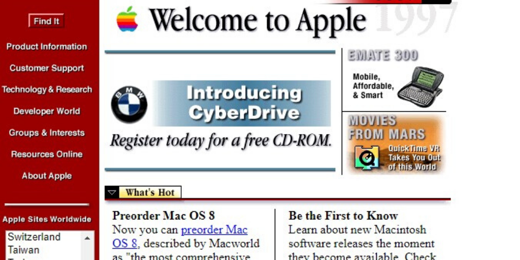 Apple Website 1996