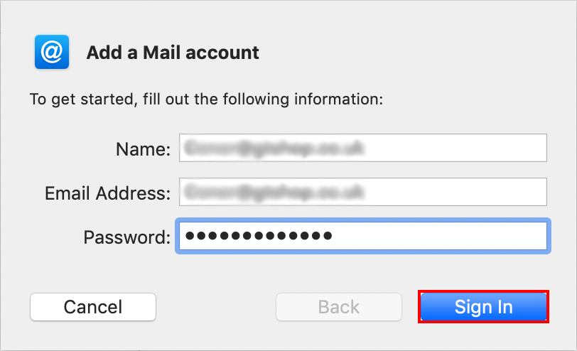 sign in to mac mail