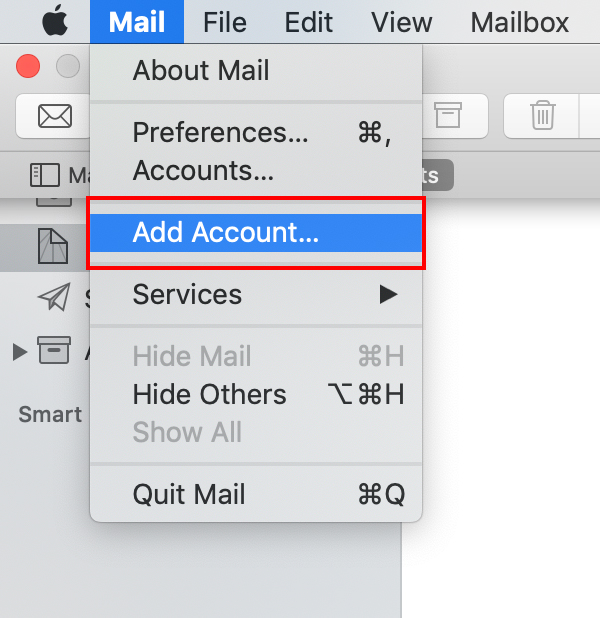 launch mac mail